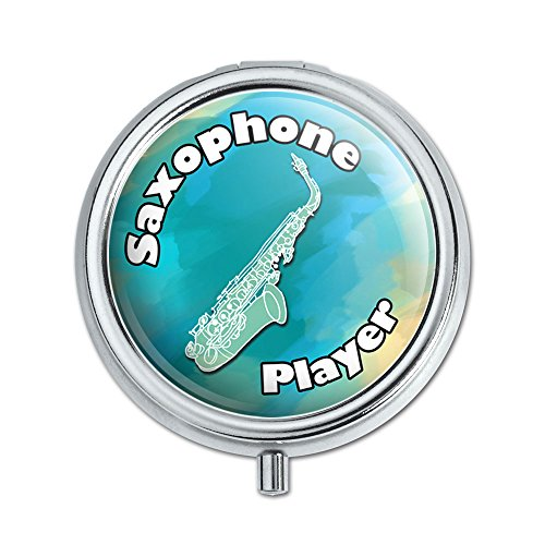 Saxophone Player Band Instrument Woodwind Pill Case Trinket Gift Box