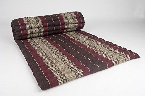 Roll up Thai Mattress, 100% Kapok, (Premium Grade) (Dark Red-Brown, 69x30x2 inch) by KiangDin Product