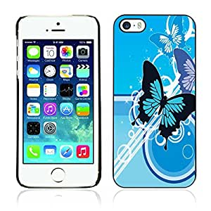 Graphic4You Blue Butterfly Butterflies Design Hard Case Cover for Apple iPhone 5 & 5S