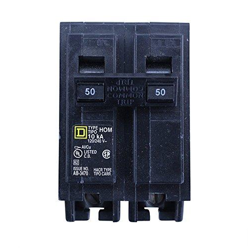 50a Type - Square D HOM250 Type HOM Homeline 2 Pole 50A 120/240V Miniature Circuit Breaker
