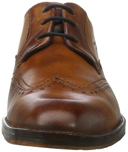 Bugatti 312296011100, Zapatos de Cordones Derby para Hombre Marrón (Cognac)