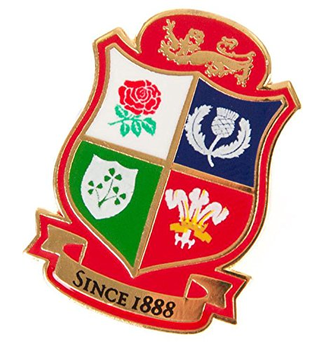 Brand Co. Official British & Irish Lions Rugby Shield Pin Badge [red]