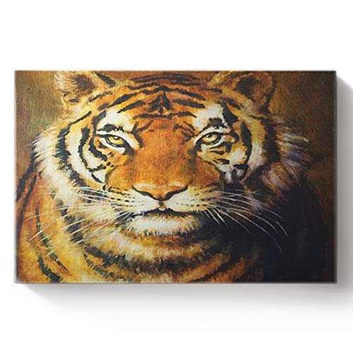 (Canvas Print Wall Art for Living Room Siberian Tiger Wall Art Pictures for Home Decor Stretched and Framed Ready to Hang 20