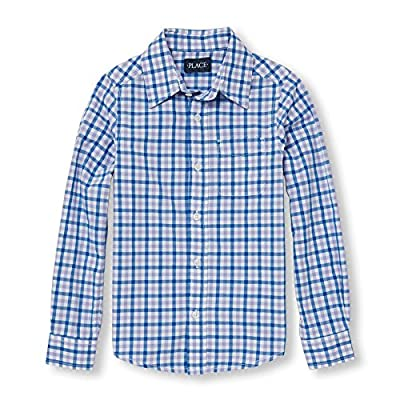 The Children's Place Boys' Gingham Woven Shirt