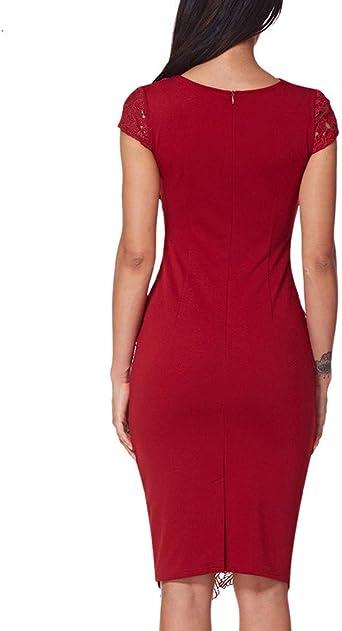 Pottoa damska sukienka koronkowa, z cienkim normalnym lakierem, na lato, na imprezę: Odzież
