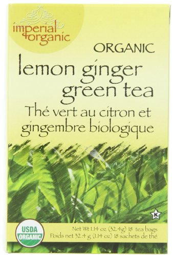 - Uncle Lee's Imperial Organic Tea - Green Lemon Ginger, 18-Count (Pack of 4)