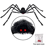 Pawliss Scary Halloween 6.6 Ft. 200cm Giant Spider Outdoor Decor Yard D (Small Image)