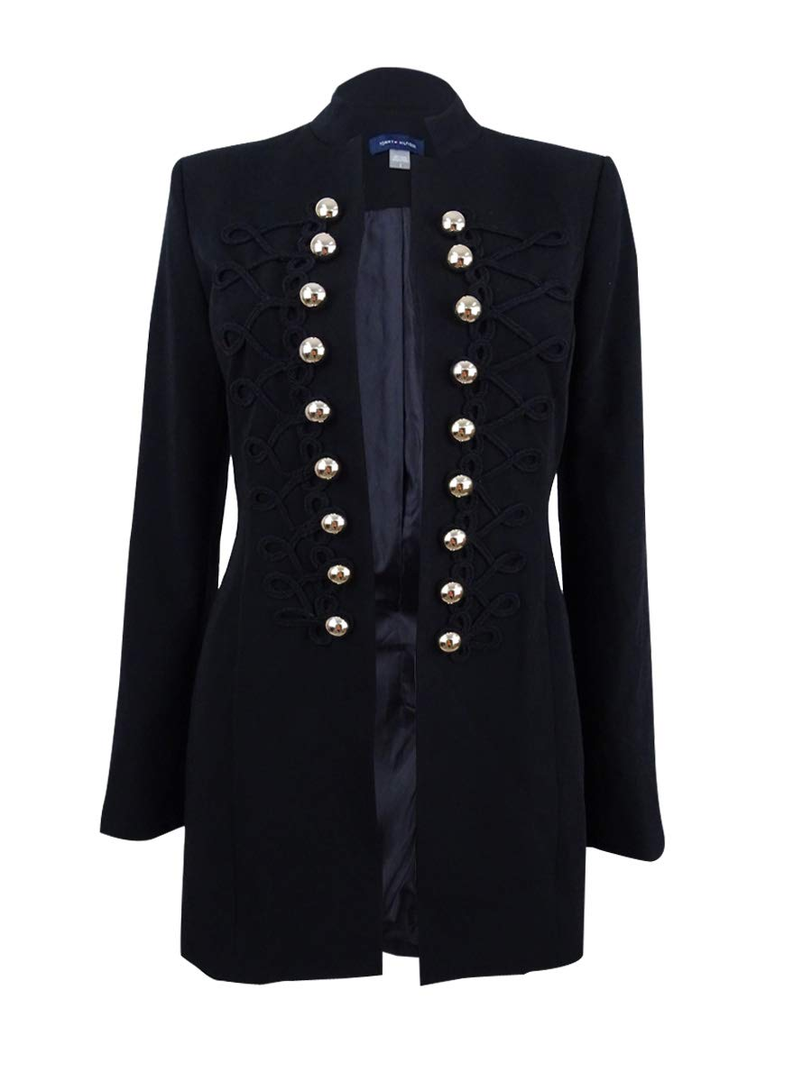 Tommy Hilfiger Womens Double-Breasted Topper Jacket Black 2