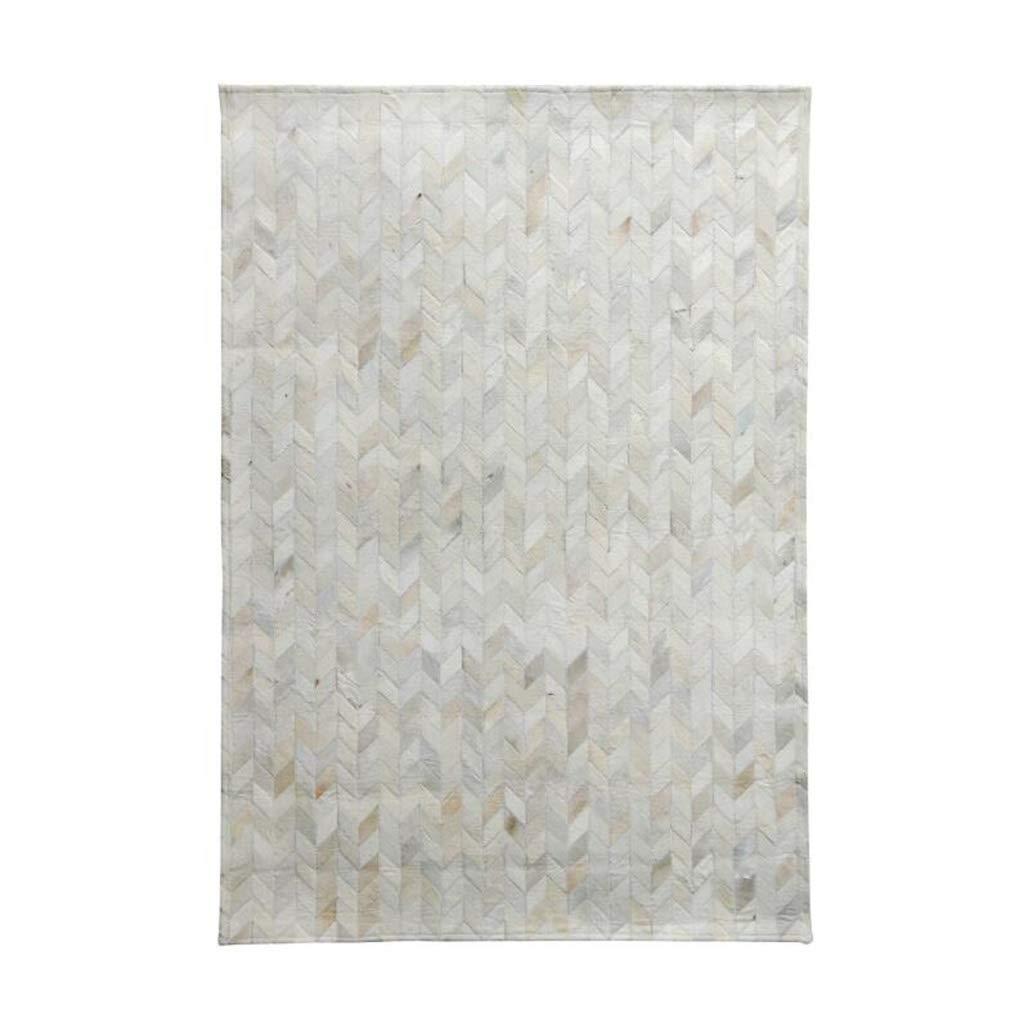 高級牛革敷物北欧スタイル手縫いのリビングルームの寝室用カーペット(底面PUレザー)(色:#3、サイズ:0.9×1.5m) (色 : #1, サイズ さいず : 0.9×1.5m) 0.9×1.5m #1 B07QMKF2K6