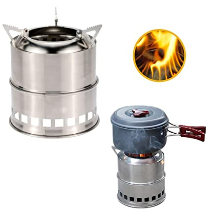 Amazon.com: Estufa de camping, 1 unidad portátil estufa de ...