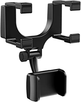 Handyhalterung Auto Rückspiegel Morechioce 360 Grad Drehbar Auto Rückspiegel Halterung Universal Kfz Handyhalter Für Navi Handys Smartphones Breite 3 Bis 5 5 Zoll Auto