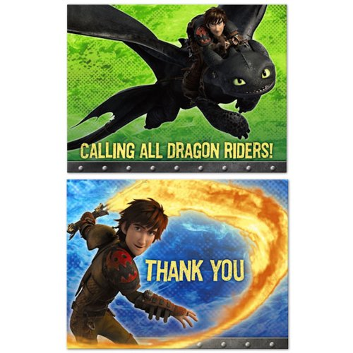 How to Train Your Dragon 2 - Party Invitations & Thank You Notes Combo]()