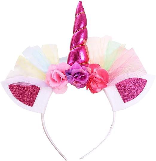 BESTOYARD 3 Diademas de Unicornio para niñas, Diademas con diseño ...