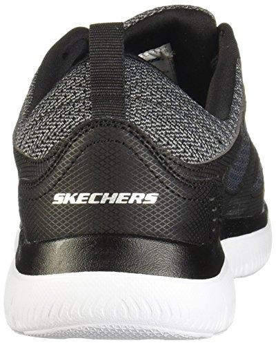 52812 BKW Summits - South Rim Herren Sneaker aus Lederimitat und Mesh Schwarz/Grau