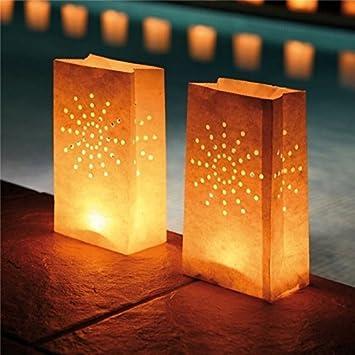 Jiali - 10 farolillos de Papel Chinos para decoración de ...