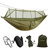 Features: Forget The Tent Ideal as a tent replacement, this Mosquito Net Camping Hammock is lightweight, compact and can be taken anywhere. Compact While Spacious When folded into it's attached stuff-sack,just a grapefruit size, you won't even know i...