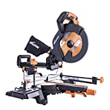 Evolution R255SMS+ Multi-Material Sliding Mitre Saw with Plus Pack, 255 mm (230V)