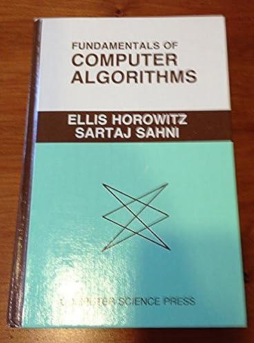 fundamentals of computer algorithms computer software engineering rh amazon com Blank Algorithm Template Algorithm Examples