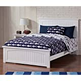 Leo & Lacey Full Panel Bed in White