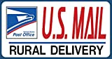 "U.S. Mail Delivery Magnetic Sign. Rural Delivery Carrier Magnet USPS - 6""X12"""