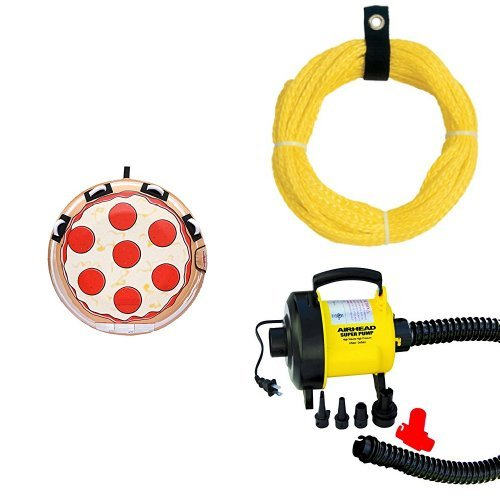 Sportsstuff Pizza Towable Rope and Pump Bundle by