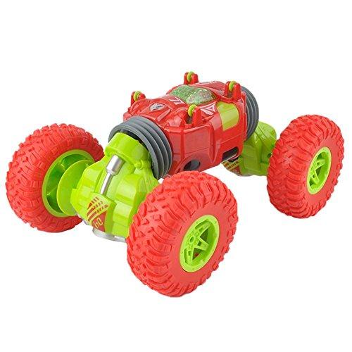 ラジコンカー スタントカー ミニRCカー 2.4GHz 360度回転 ジャイロスタントカー 無線電動ラジコンカー 両面走行特技 持つ 車おもちゃ キッズおもちゃ ギフト レッド Prosperveil