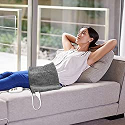 """PureRelief XL - King Size Heating Pad with Fast-Heating Technology, 6 Temperature Settings, Convenient Storage Bag (12"""" x 24"""")"""