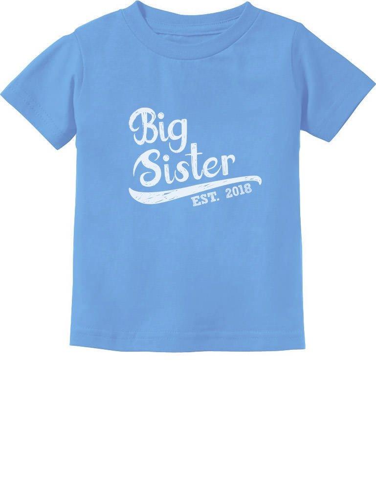 TeeStars - Big Sister Est 2018 - Sibling Gift Idea Toddler/Infant Kids T-Shirt GtPh0Ptgm5