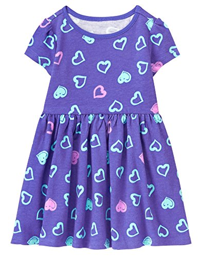 5t Cotton (Gymboree Toddler Girls' Easy Li'l Short Sleeve Dress, Blissful Blue, 5T)