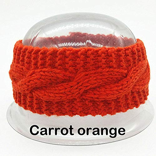 VEADK Accesorios para el cabello Diadema turbante de ganchillo de lana para mujer Diadema elástica cálida cabeza Vendaje…