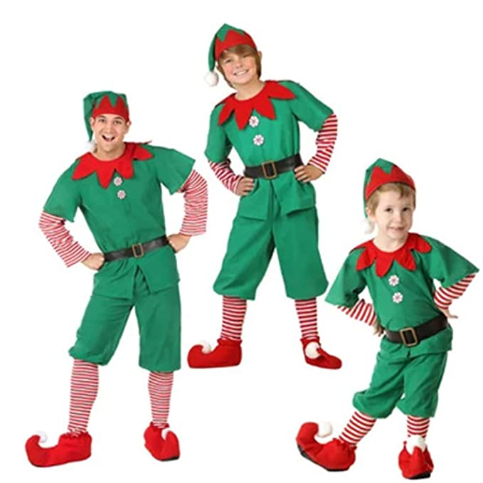 Christmas Costume, Polyester Cute Unique Costume Cosplay Little Elf Dress  For Men/Women/