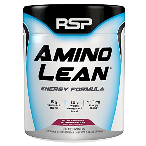 RSP AminoLean - All-in-One Pre Workout, Amino Energy, Weight Management Supplement with Amino Acids, Complete Preworkout Energy & Natural Weight Management for Men & Women, Blackberry Pom, 30 Serv ()