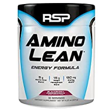 RSP AminoLean - Energy & Weight Loss Formula, BCAA Powder with CLA, Green Tea Extract and Caffeine for Building Lean Muscle and Burning Fat, Blackberry Pomegranate, 30 Servings