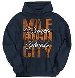 Classic Teaze Mile High City Denver Colorado Mountain State USA Hoodie