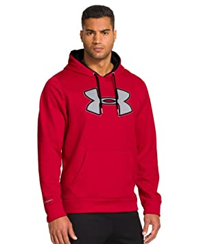 Under Armour UA Storm Armour Polar del Hombre Big Logo Sudadera con Capucha (Adultos), X-Large Tall, Red/Steel/Black: Amazon.es: Ropa y accesorios