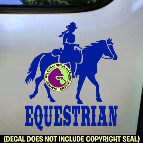 EQUESTRIAN Trail Rider Horse Vinyl Decal Sticker D