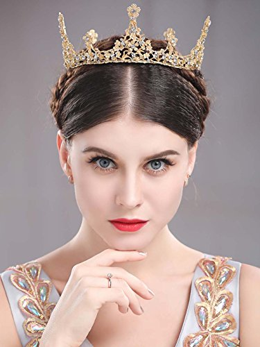 Unicra Baroque Gold Vintage Tiaras and Crowns for Women Decorative Wedding Bridal Headbands Queen Crowns for -