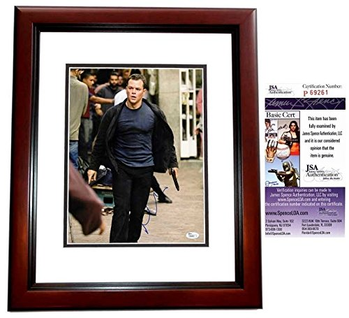 Matt Damon Autographed Signed The Departed 11x14 Photo Mahogany Custom Frame - JSA Authentic