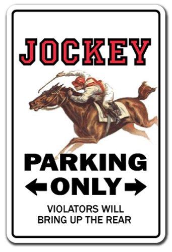 JOCKEY Sign parking horse racing derby rider racetrack silks rider racer | Indoor/Outdoor | 12