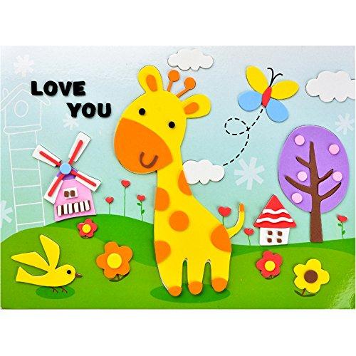 孩派eva貼畫兒童手工制作 兒童益智玩具diy幼兒園手工 韓版貼紙
