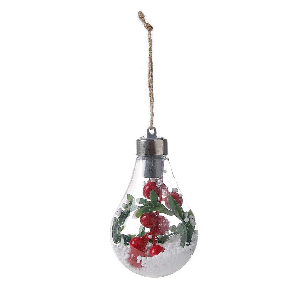 Xmas Tree Lamp,JDgoods Waterproof Hanging LED Bulb Christmas Tree Decoration Lamp Home Bedroom Night Light (D)