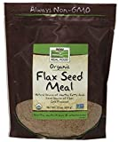 NOW Solutions Organic Flax Meal, 22-Ounce
