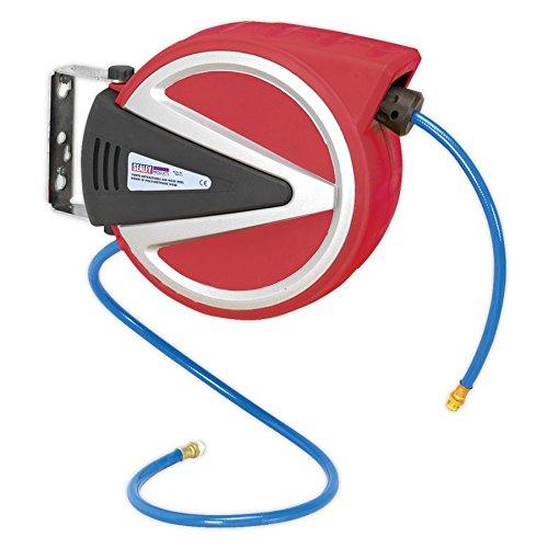 Sealey Retractable Air Hose Reel 10mtr 8mm ID PU Hose (Sealey Air Hose)