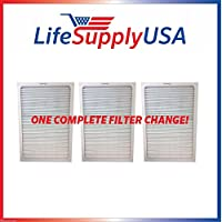 Set of 3 filters to fit All Blueair 500 600 series air purifiers By LifeSupplyUSA