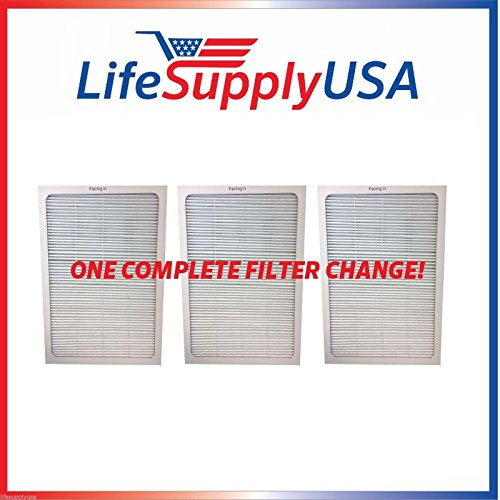 LifeSupplyUSA Complete Set of 3 Filters to fit All Blueair 500 & 600 Series Air Purifier -