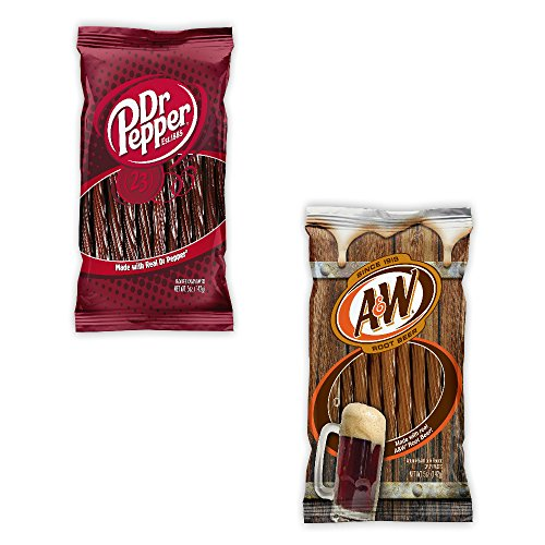 Kenny's Juicy Twists - Dr. Pepper and A&W Root Beer - Variety 2 Pack - Nt. Weight 10 oz - Fresh Product ()