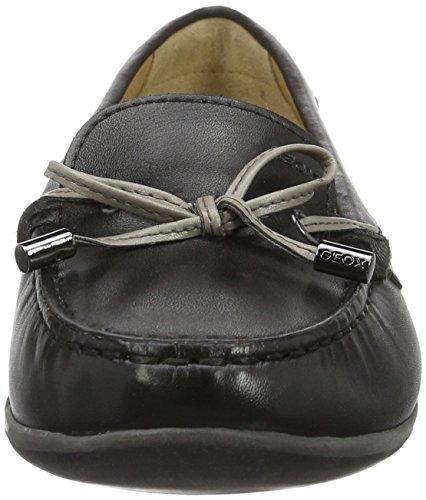 Femme 35 A D Eu Geox Yuki Mocassins loafers Noir black x6q47w