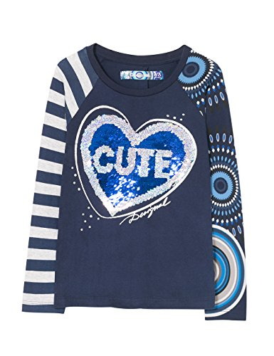 Saskatchewan 5040 Shirt mezzanotte Multicolor Desigual T Print Girl 48zaqxwf