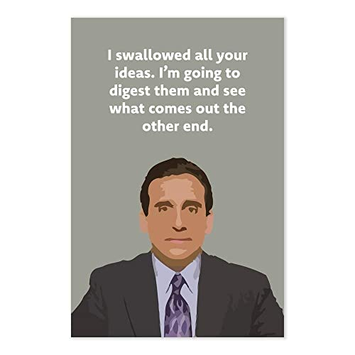 amazon com i swallowed all your ideas quote poster funny the