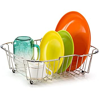 Amazon.com: iPEGTOP Small Sink Dish Drying Rack with Rubber Feet ...
